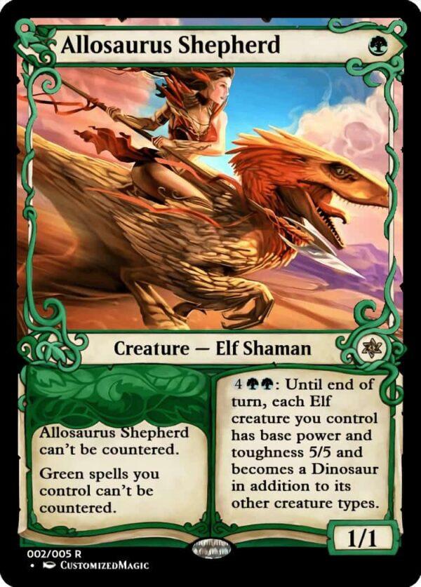 AllosaurusShepherd.2 1 - Magic the Gathering Proxy Cards