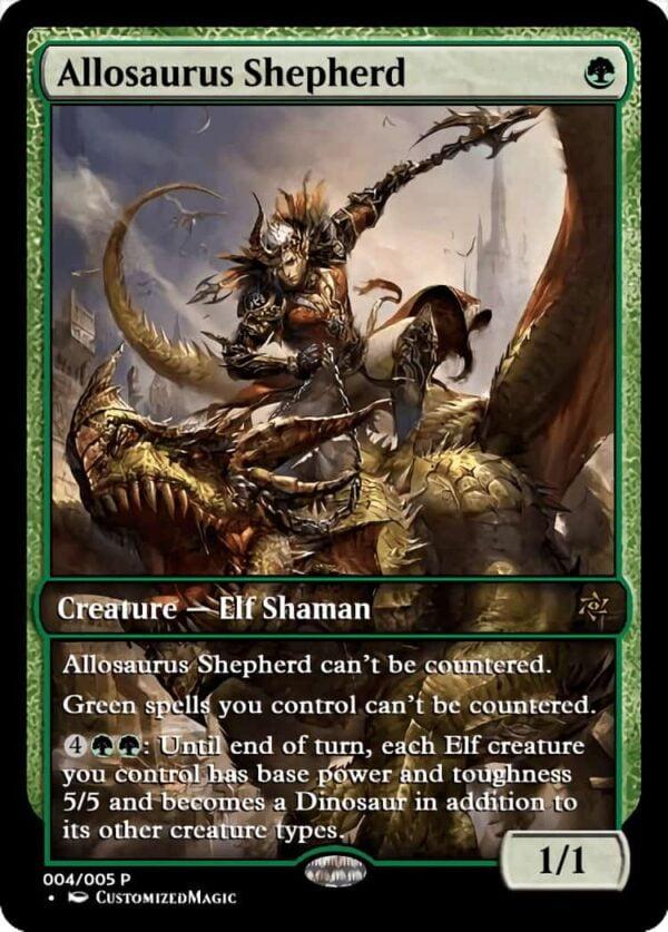 AllosaurusShepherd.4 - Magic the Gathering Proxy Cards