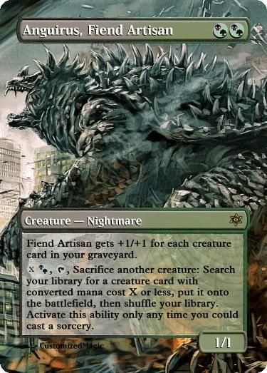 AnguirusFiendArtisan - Magic the Gathering Proxy Cards