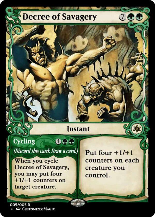 DecreeofSavagery - Magic the Gathering Proxy Cards