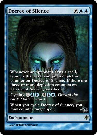 DecreeofSilence.1 - Magic the Gathering Proxy Cards