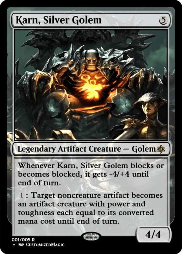 Karn Silver Golem.3 - Magic the Gathering Proxy Cards