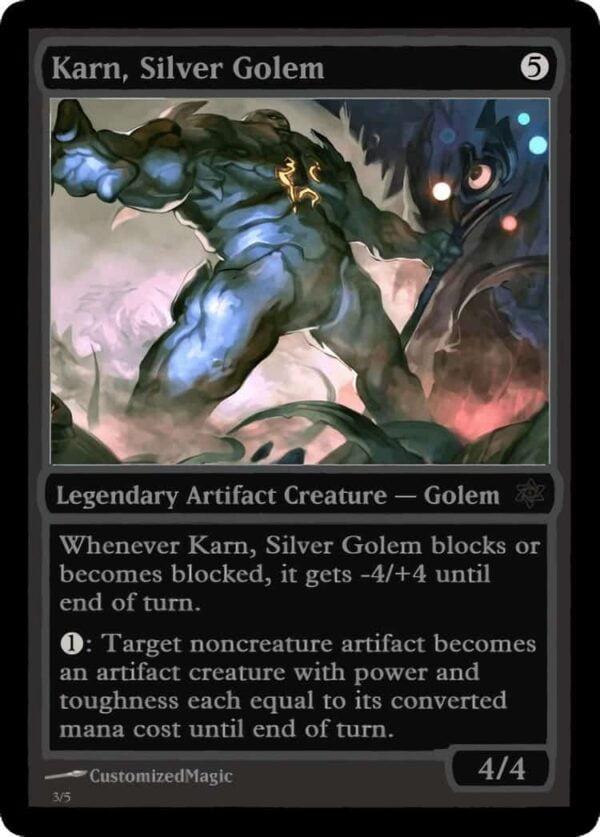 Karn Silver Golem.6 - Magic the Gathering Proxy Cards
