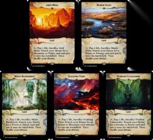 Fetch Lands - Ixalan Frame - Enemy Colors