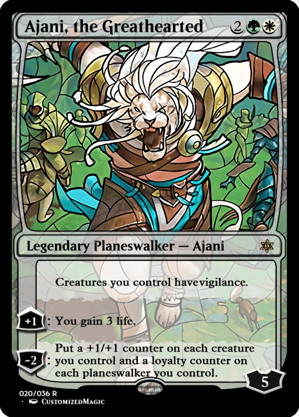 Ajani the Greathearted 1 - Magic the Gathering Proxy Cards