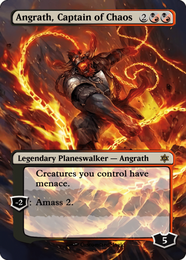 Angrath Captain of Chaos - Magic the Gathering Proxy Cards