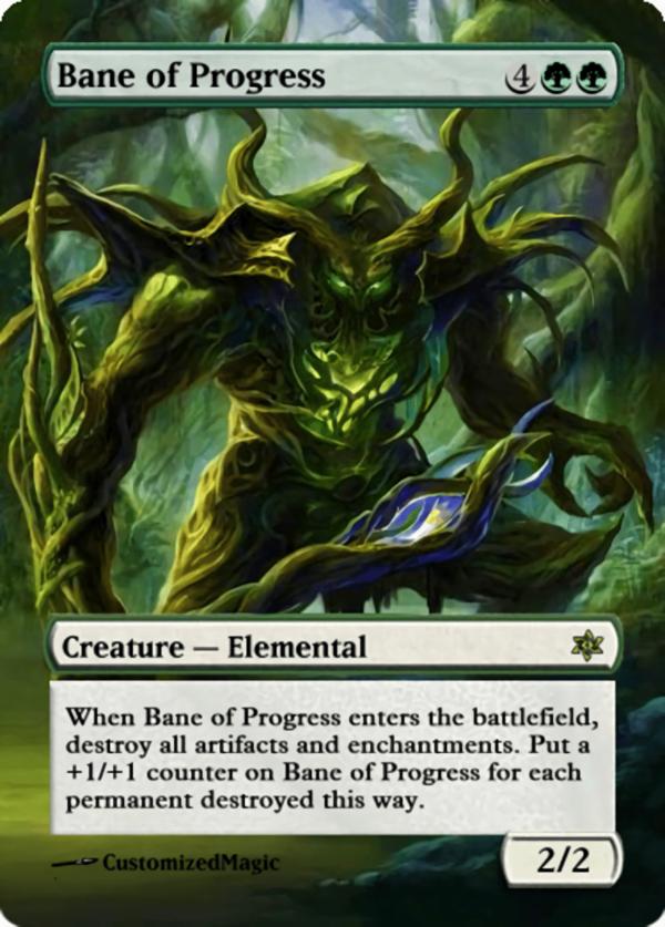 Bane of Progress.11 - Magic the Gathering Proxy Cards