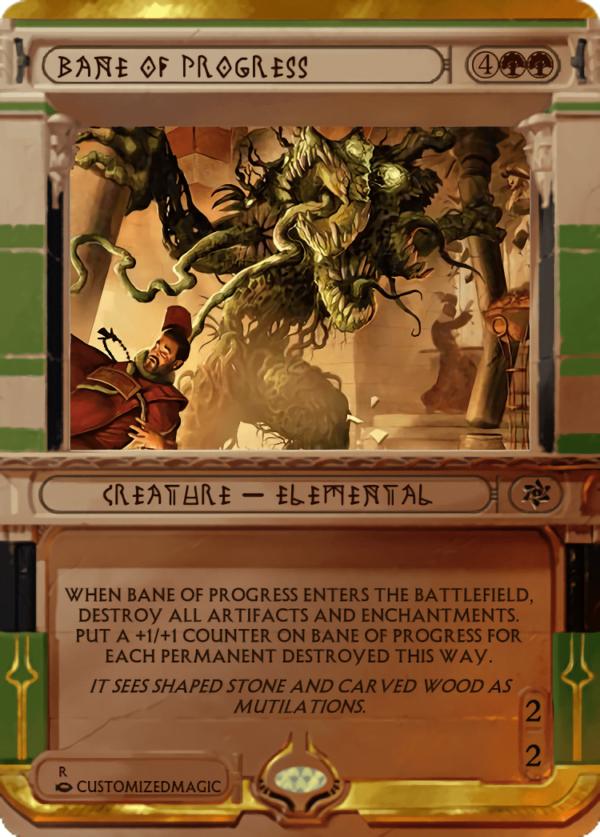 Bane of Progress.4 - Magic the Gathering Proxy Cards
