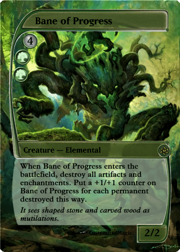Bane of Progress.5 - Magic the Gathering Proxy Cards