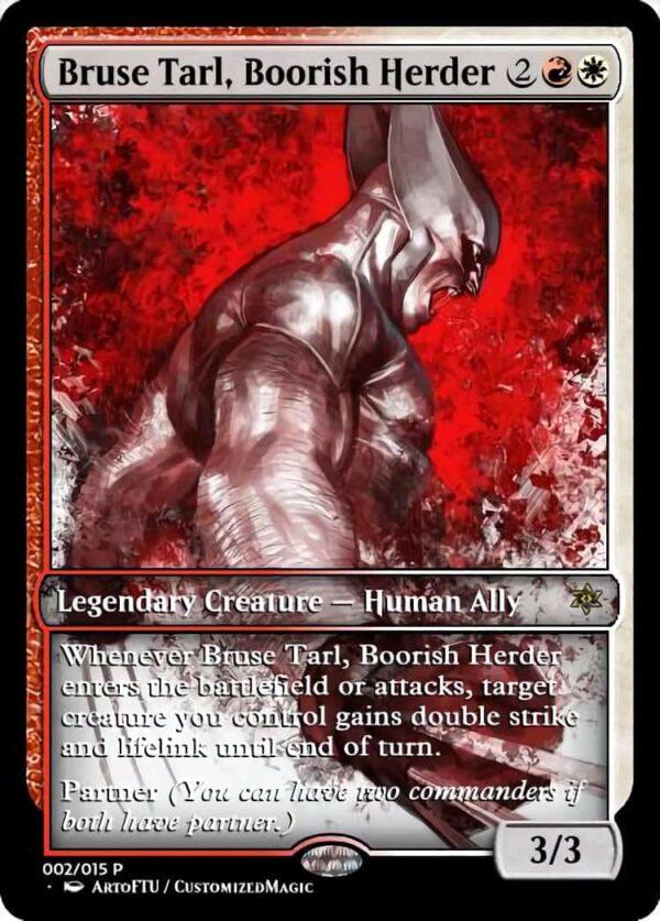 Bruse Tarl Boorish Herder - Magic the Gathering Proxy Cards