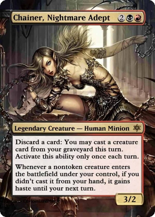 Chainer Nightmare Adept 11 - Magic the Gathering Proxy Cards