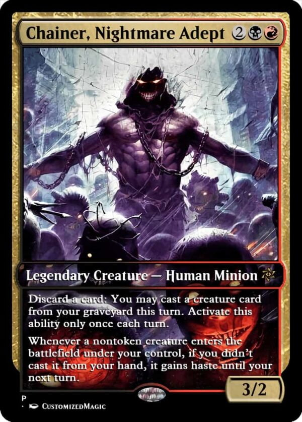 Chainer Nightmare Adept.3 - Magic the Gathering Proxy Cards