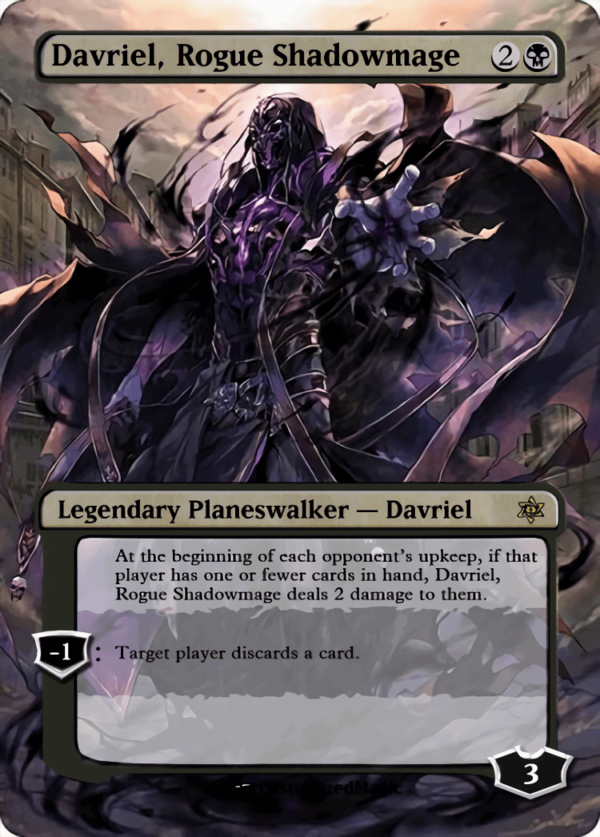 Davriel Rogue Shadowmage - Magic the Gathering Proxy Cards