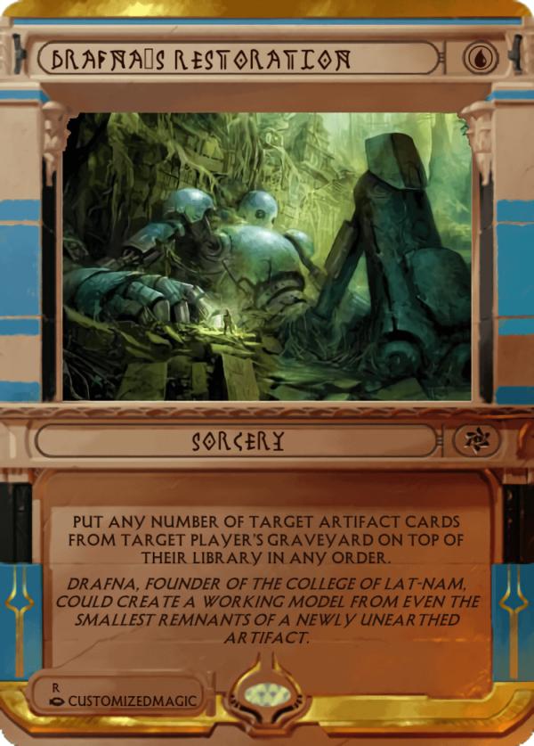 Drafnas Restoration.1 - Magic the Gathering Proxy Cards