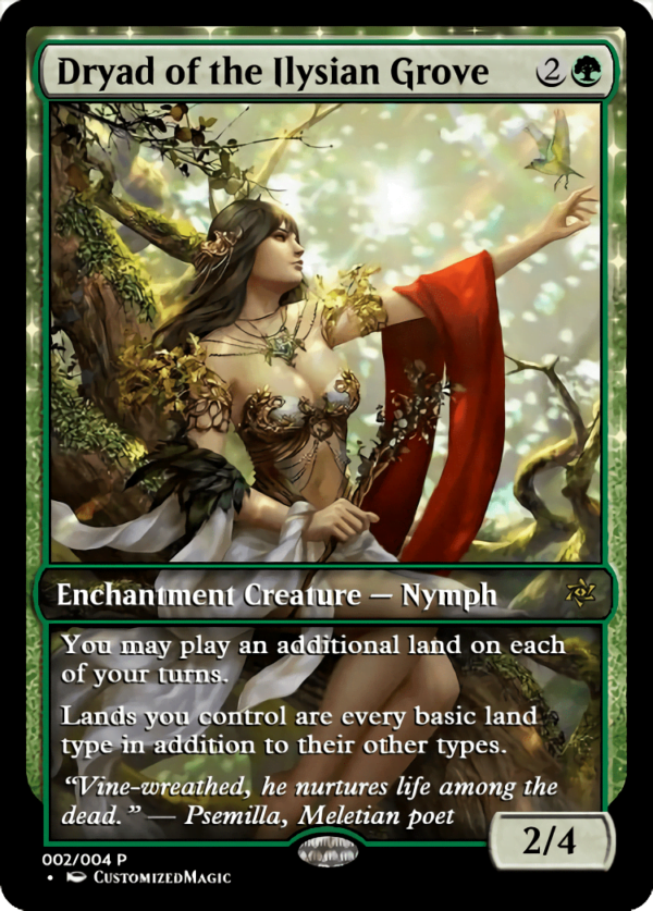 Dryad of the Ilysian Grove.1 - Magic the Gathering Proxy Cards