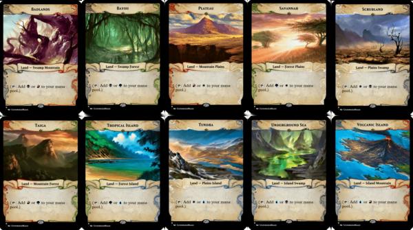 Dual Lands Ixalan Frame