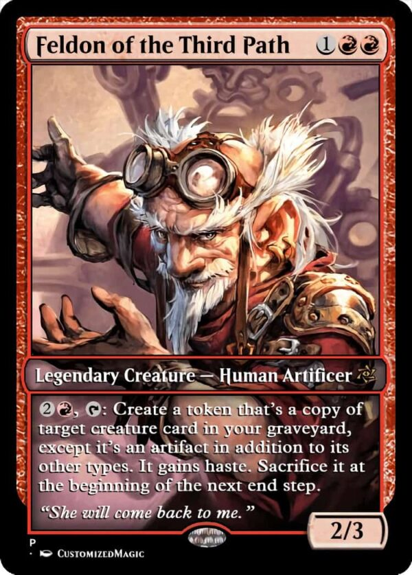 Feldon of the Third Path.4 - Magic the Gathering Proxy Cards