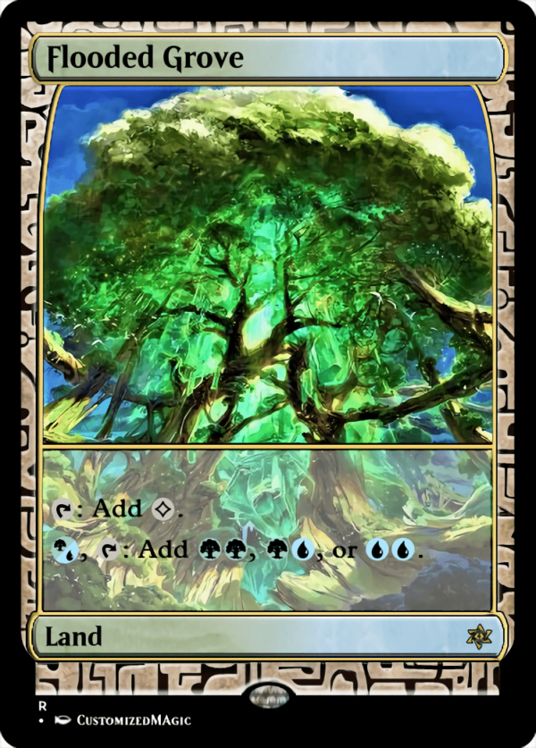 Flooded Grove - Magic the Gathering Proxy Cards