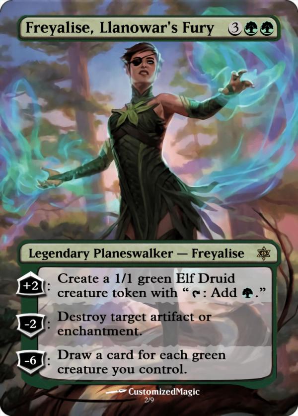 Freyalise Llanowars Fury - Magic the Gathering Proxy Cards