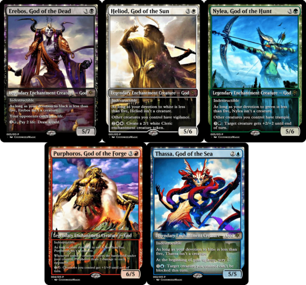 Theros Mono-Colored Gods