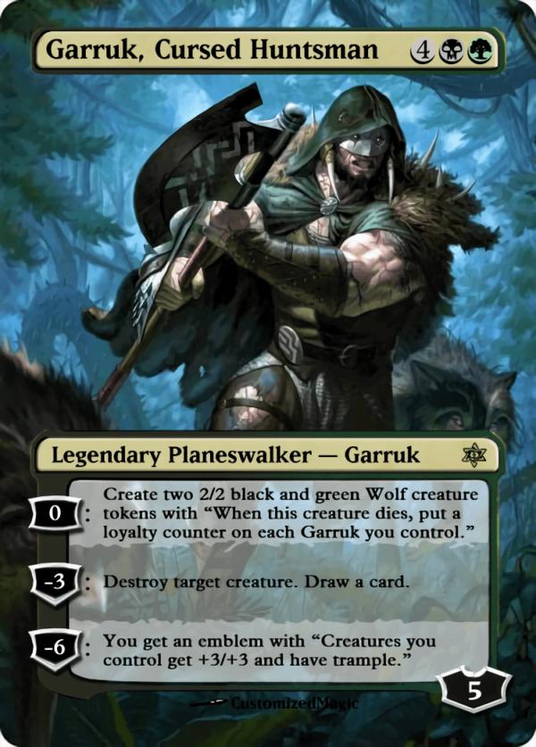Garruk Cursed Huntsman - Magic the Gathering Proxy Cards