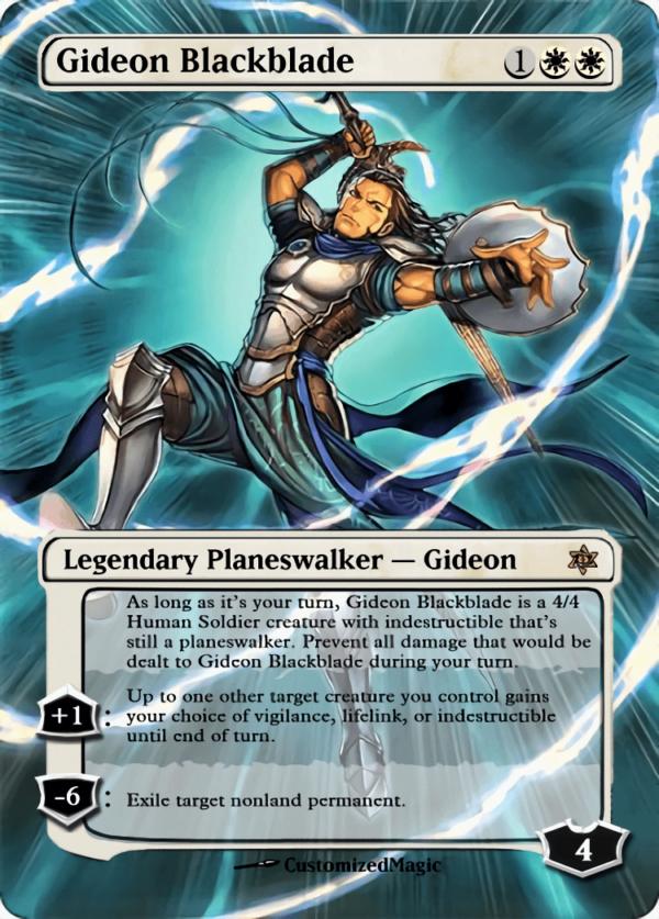 Gideon Blackblade - Magic the Gathering Proxy Cards