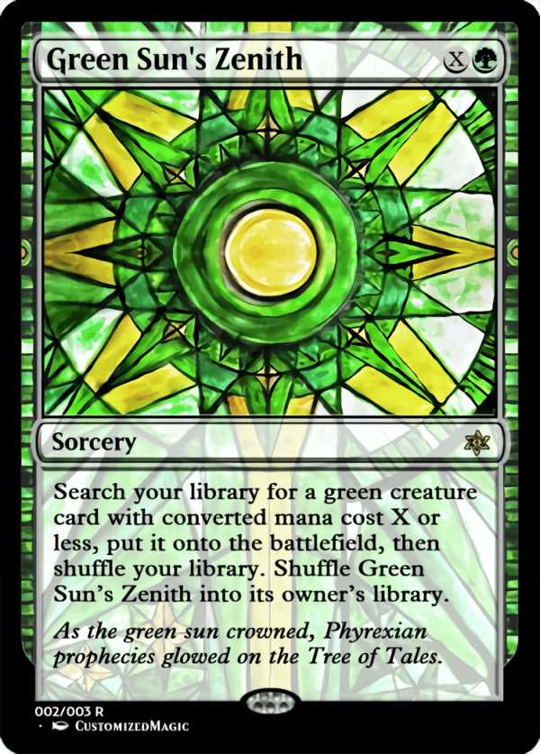 Green Suns Zenith.2 - Magic the Gathering Proxy Cards