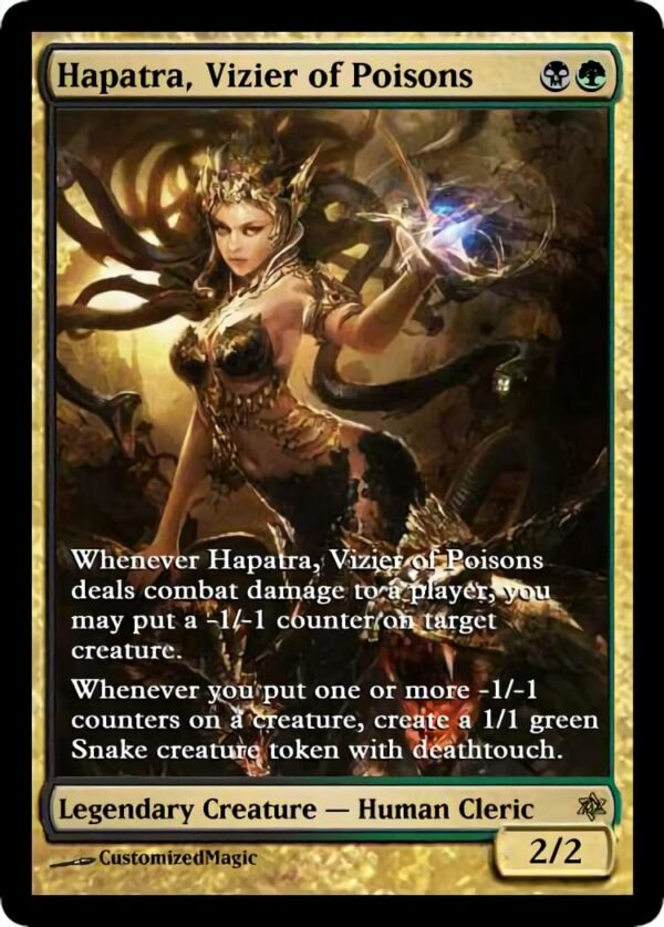 Hapatra Vizier of Poisons 06 - Magic the Gathering Proxy Cards