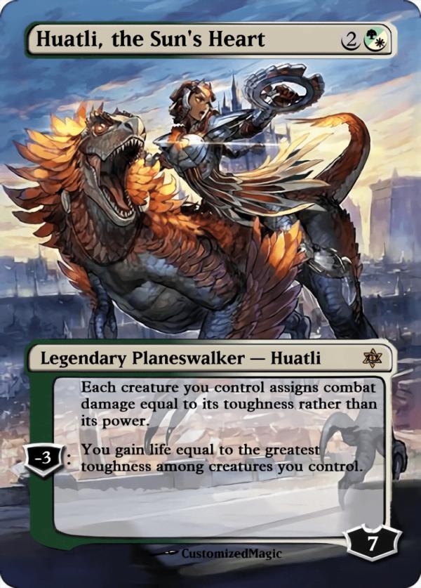 Huatli the Suns Heart - Magic the Gathering Proxy Cards