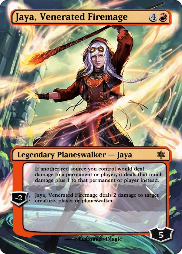 Jaya Venerated Firemage - Magic the Gathering Proxy Cards