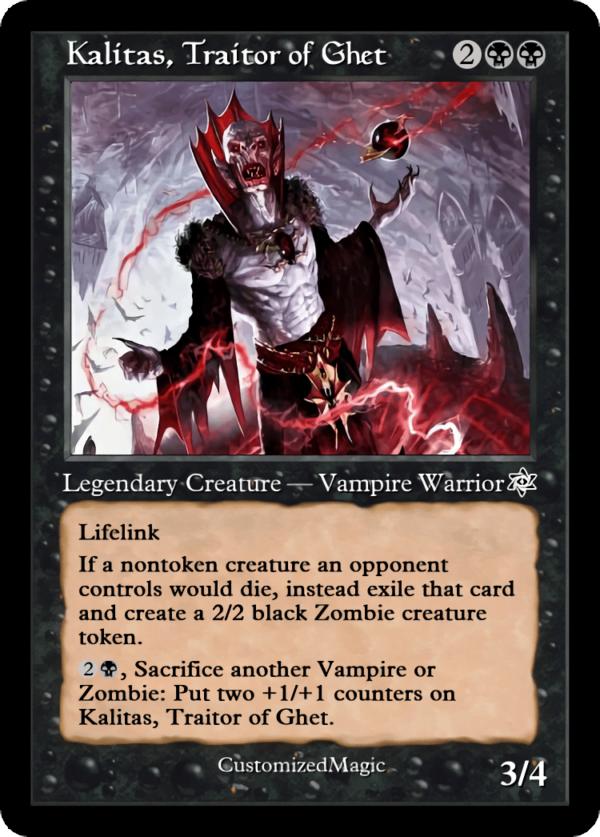 Kalitas Traitor of Ghet.1 - Magic the Gathering Proxy Cards