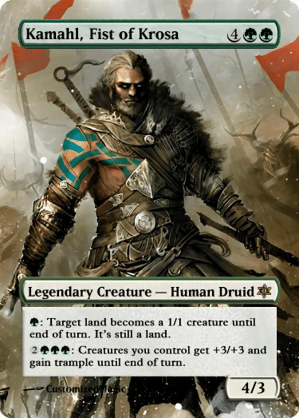 Kamahl Fist of Krosa.11 - Magic the Gathering Proxy Cards