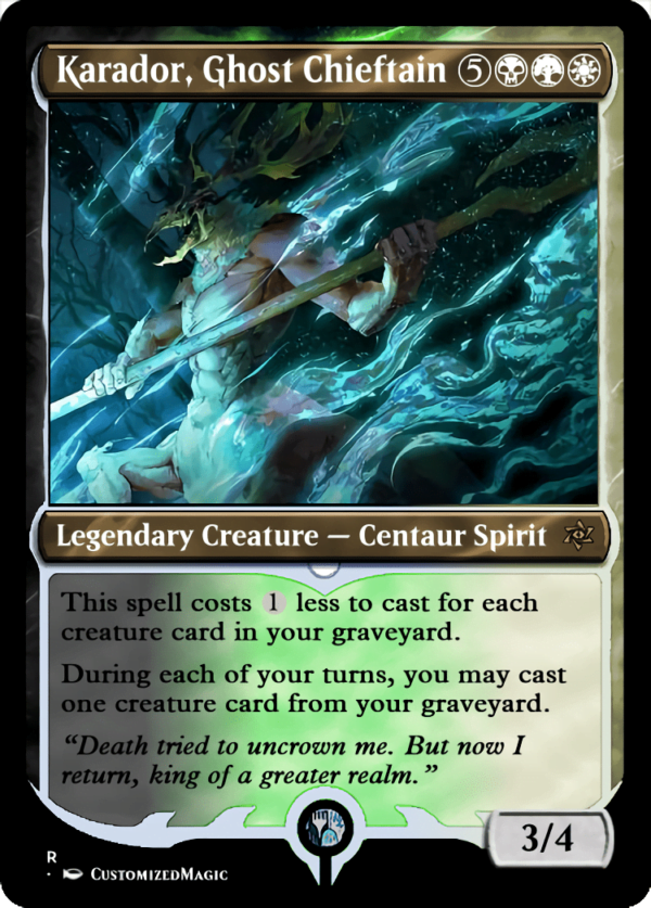 Karador Ghost Chieftain.6 - Magic the Gathering Proxy Cards