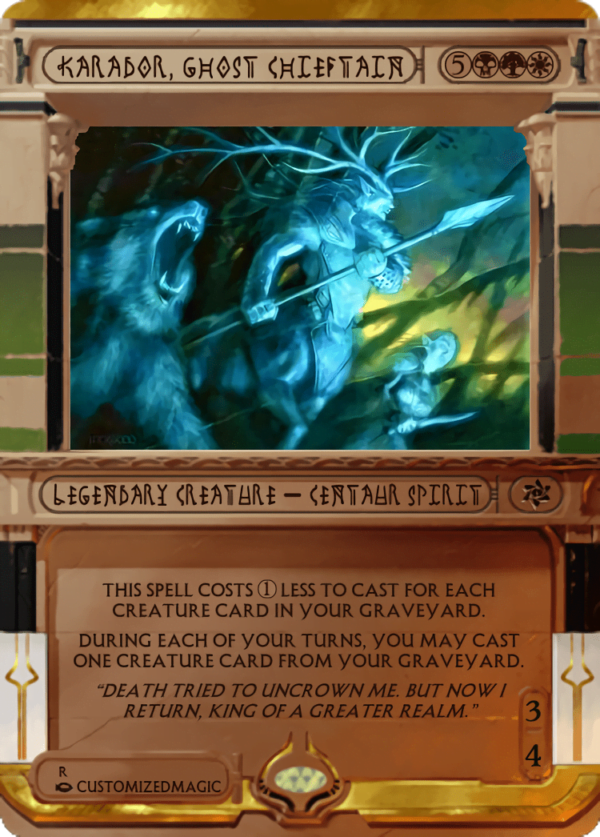 Karador Ghost Chieftain.7 - Magic the Gathering Proxy Cards