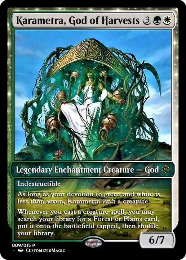 Karametra God of Harvests - Magic the Gathering Proxy Cards
