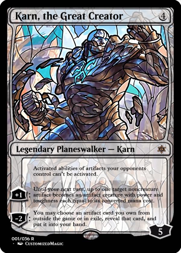 Karn the Great Creator 1 - Magic the Gathering Proxy Cards