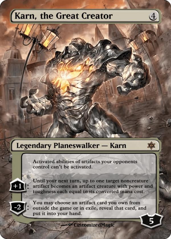 Karn the Great Creator - Magic the Gathering Proxy Cards