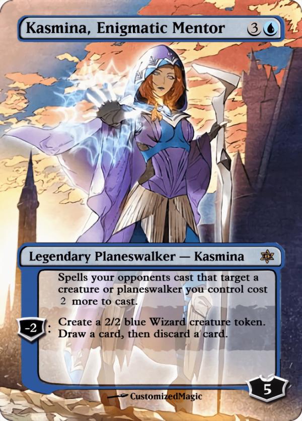 Kasmina Enigmatic Mentor - Magic the Gathering Proxy Cards