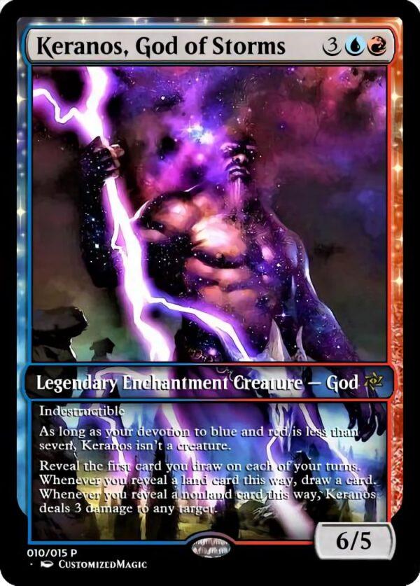 Keranos God of Storms - Magic the Gathering Proxy Cards