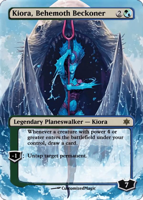 Kiora Behemoth Beckoner - Magic the Gathering Proxy Cards