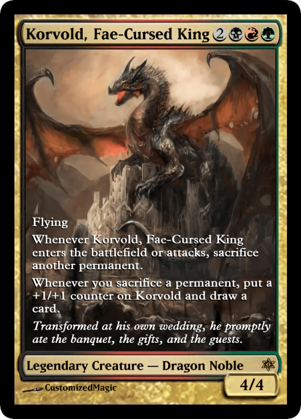 Korvold Fae Cursed King.2 - Magic the Gathering Proxy Cards