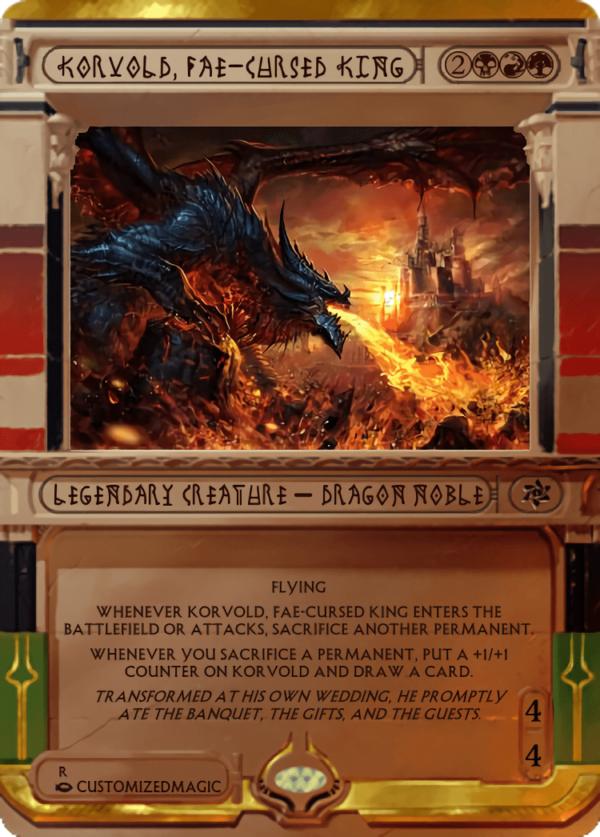 Korvold Fae Cursed King.3 - Magic the Gathering Proxy Cards