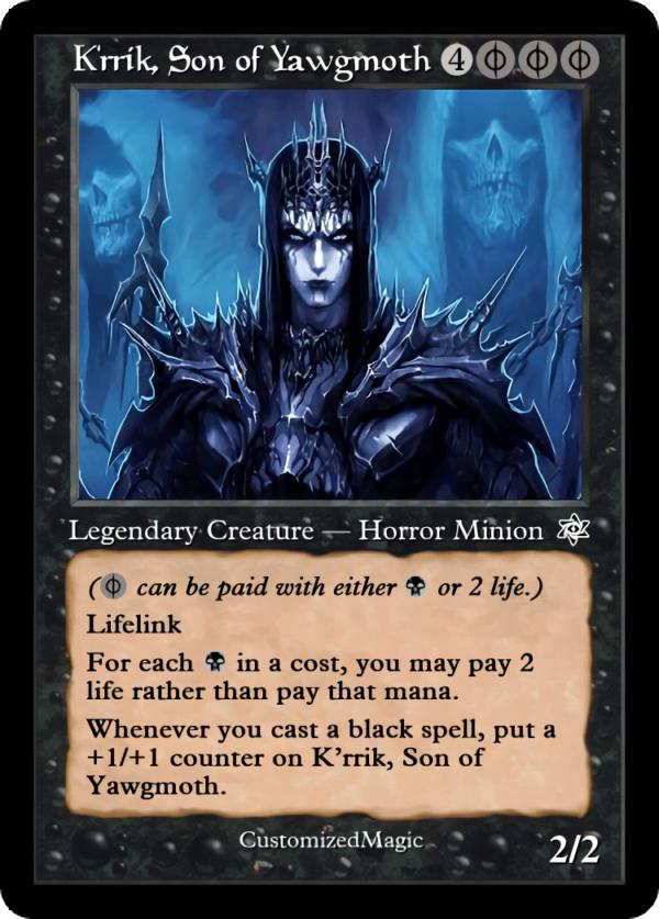 Krrik Son of Yawgmoth - Magic the Gathering Proxy Cards