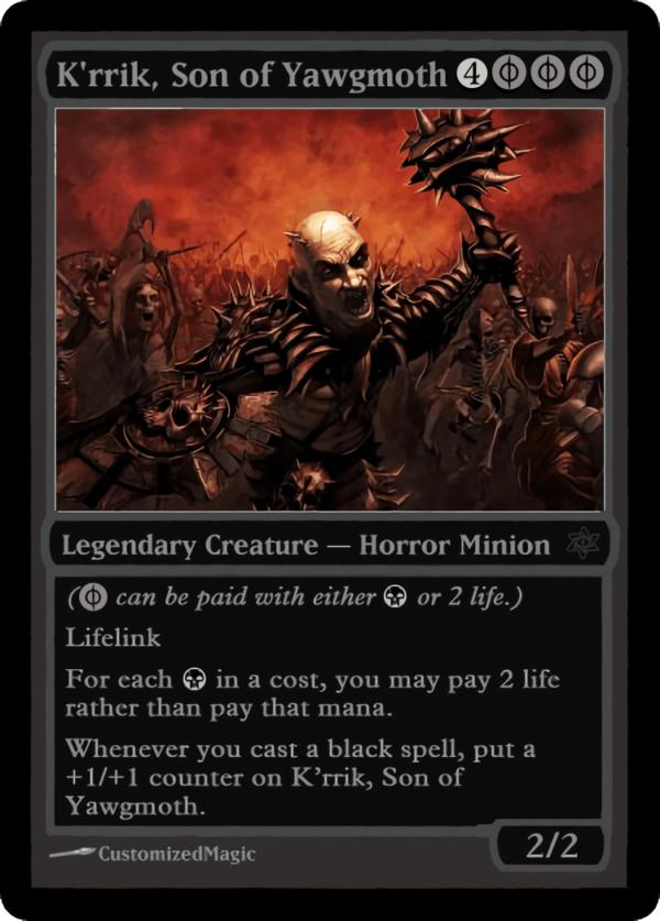 Krrik Son of Yawgmoth.1 - Magic the Gathering Proxy Cards