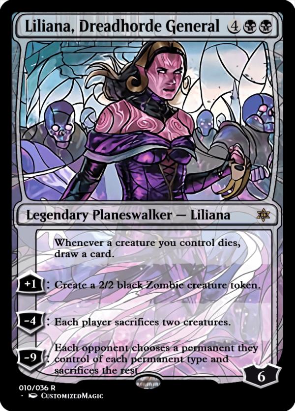 Liliana Dreadhorde General 1 - Magic the Gathering Proxy Cards