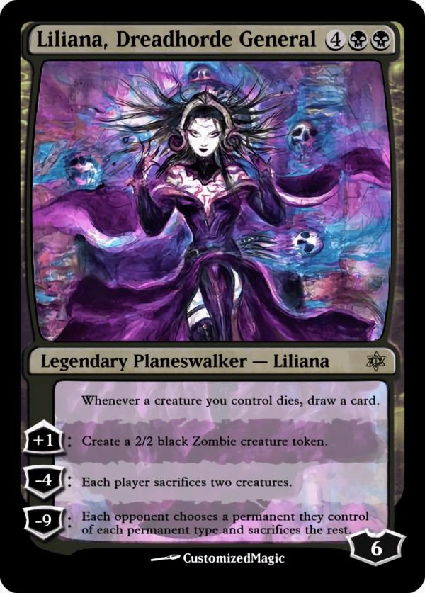 Liliana Dreadhorde General - Magic the Gathering Proxy Cards