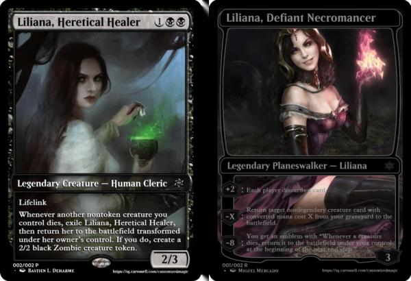 Liliana, Heretical Healer and Liliana, Defiant Necromancer