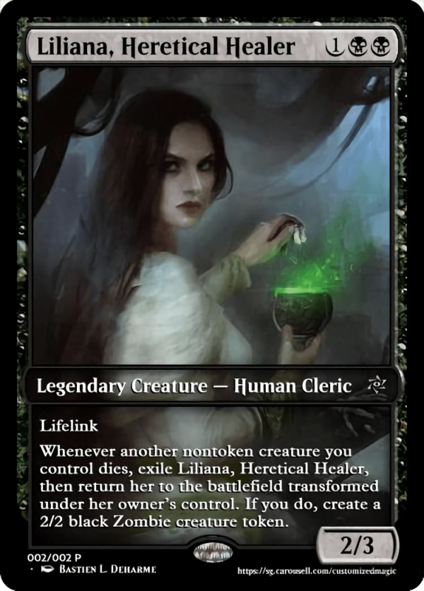 Liliana Heretical - Magic the Gathering Proxy Cards