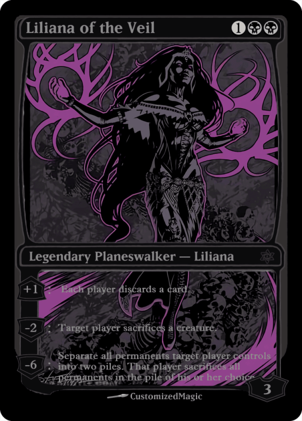 Liliana of the Veil - Magic the Gathering Proxy Cards