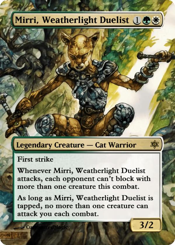 Mirri Weatherlight Duelist 2 - Magic the Gathering Proxy Cards